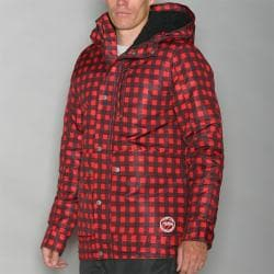 Pipeline Men's Park Check Red Snowboard Jacket