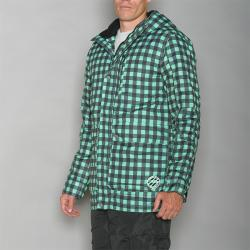Pipeline Men's Park Check Green Snowboard Jacket
