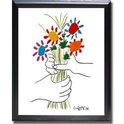 Pablo picasso 39 petite fleurs 39 framed canvas art 13878132 for Picasso petite fleurs