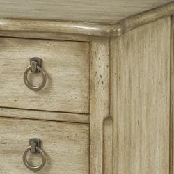 Hand Painted Rustic Sand Finish Accent Chest