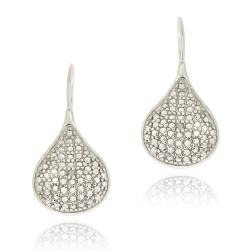 DB Designs Sterling Silver White Diamond Accent Teardrop Earrings