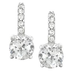 Tressa Sterling Silver Round-cut Cubic Zirconia Earrings