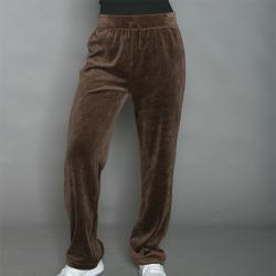 Kim Rodgers Women's Brown Velour Pants
