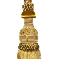 Exclusive Fabrics Bright Gold Designer Tassel Tiebacks (Set of 2)