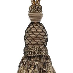 Taupe/ Gold Designer Tassel Tiebacks (Set of 2)