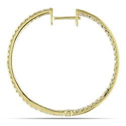 Miadora 14k Yellow Gold 7/8ct TDW Diamond Earrings (G-H, SI1-SI2)