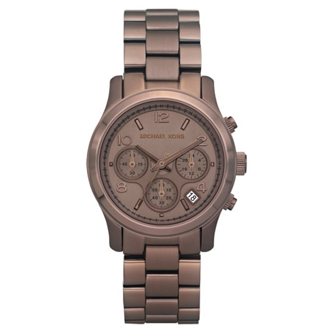 Michael Kors Women's Brown Chronograph Watch