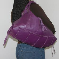 B-Collective Large Pebble Leather Hobo Bag