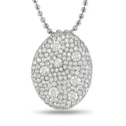 Miadora 18k White Gold 3 7/8ct TDW Diamond Necklace (G-H, SI1-SI2)
