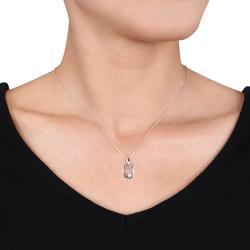 Miadora 14k White Gold 1/10ct TDW Diamond Necklace (G-H, I1-I2)