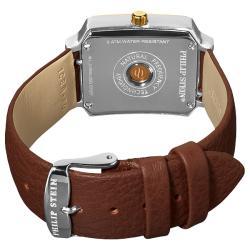 Philip Stein Women's Classic Brown Strap Two Tone Watch
