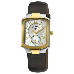 Philip Stein Women's 21TG-FW-IB Classic Black Strap Two Tone Watch