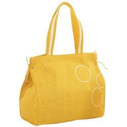 Amber Jute Circle Pattern Carry Tote Bag