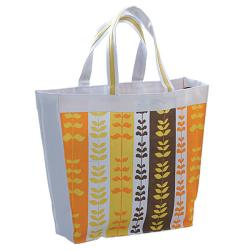 Heartbeat Canvas Floral Pattern Tote Bag