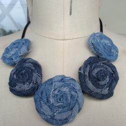 CarolineAlexander Recycled Rose Denim Necklace