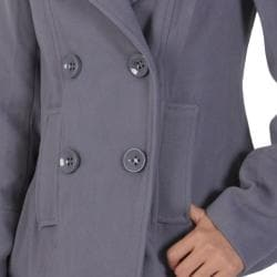 Ci Sono by Journee Junior's Double-breasted Long-sleeve Coat