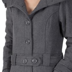Ci Sono by Journee Junior's Large Collar Accent Button-front Coat