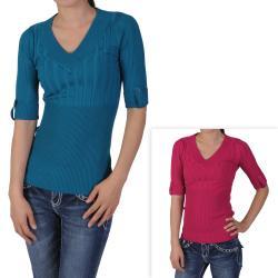 Ci Sono by Adi Junior's Half-sleeve V-neck Sweater