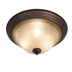 Woodbridge Lighting Clifton 3-light Marbled Bronze Flush Mount