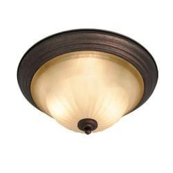 Woodbridge Lighting Clifton 2-light Marbled Bronze Flush Mount