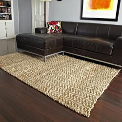 Devi Natural Tan Coir and Jute Rug (4' x 6')