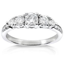14k White Gold 3/4ct TDW Diamond Engagement Ring
