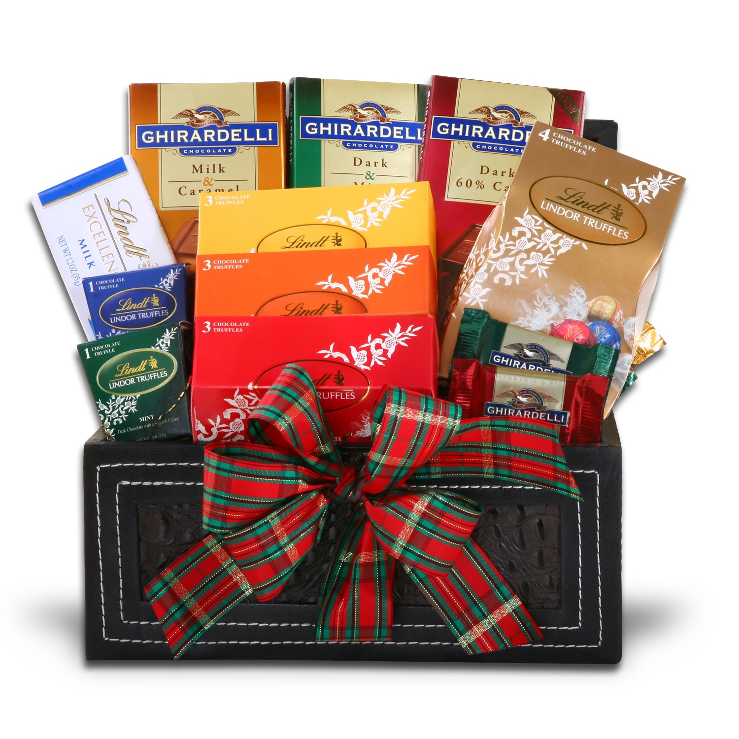 Lindt and Ghirardelli FG05751 Chocolate Gift Basket Collection