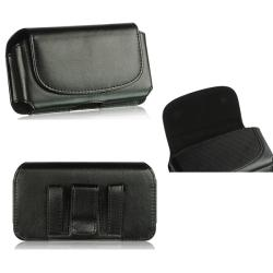 Premium Motorola Droid Bionic Horizontal Leather Pouch