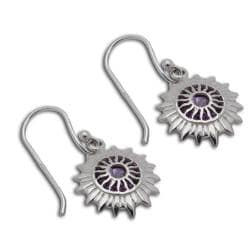 Sterling Silver Cubic Zirconia Chakra Earrings (Thailand)