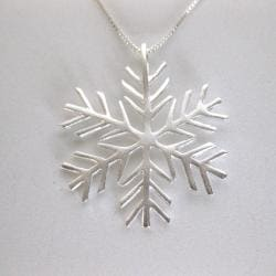 Sterling Silver Snowflake Necklace (Thailand)