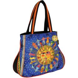 Laurel Burch Harmony Under The Sun Artistic Totes Round Shoulder Tote