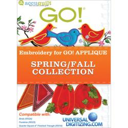 Accuquilt GO! Universal Embroidery Spring/ Fall Collection