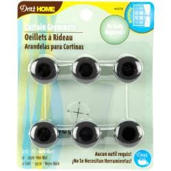 Matte Black 3/8-in Curtain Grommets (Pack of 12)