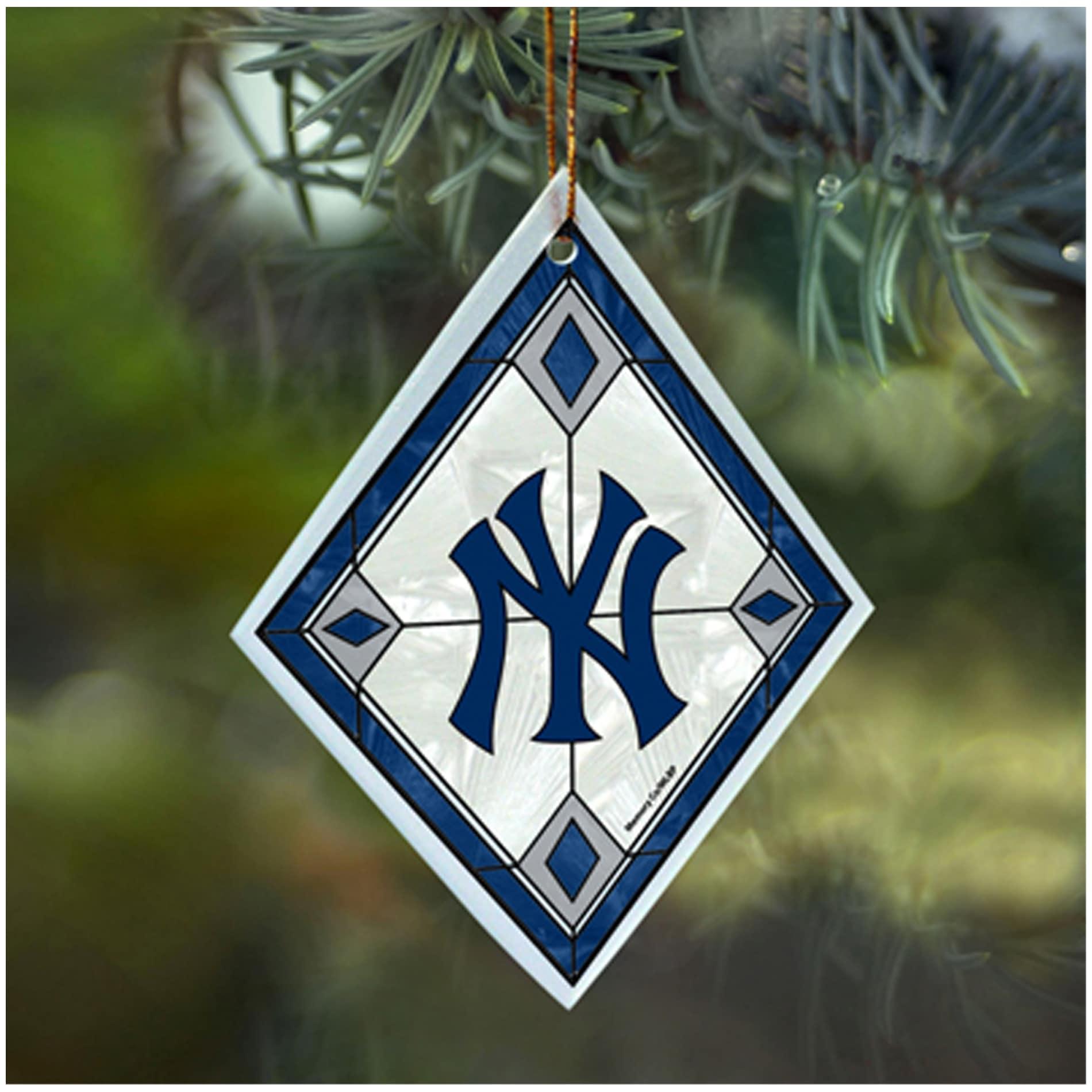 New York Yankees MLB Art Glass Ornament