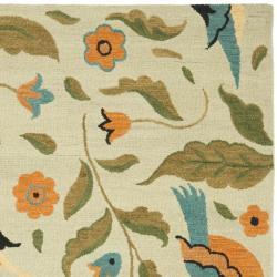 Safavieh Handmade Blossom Swallow Sage Wool Rug (8'9 x 12')