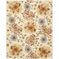 Safavieh Handmade Blossom Beige Wool Rug (8'9 x 12')