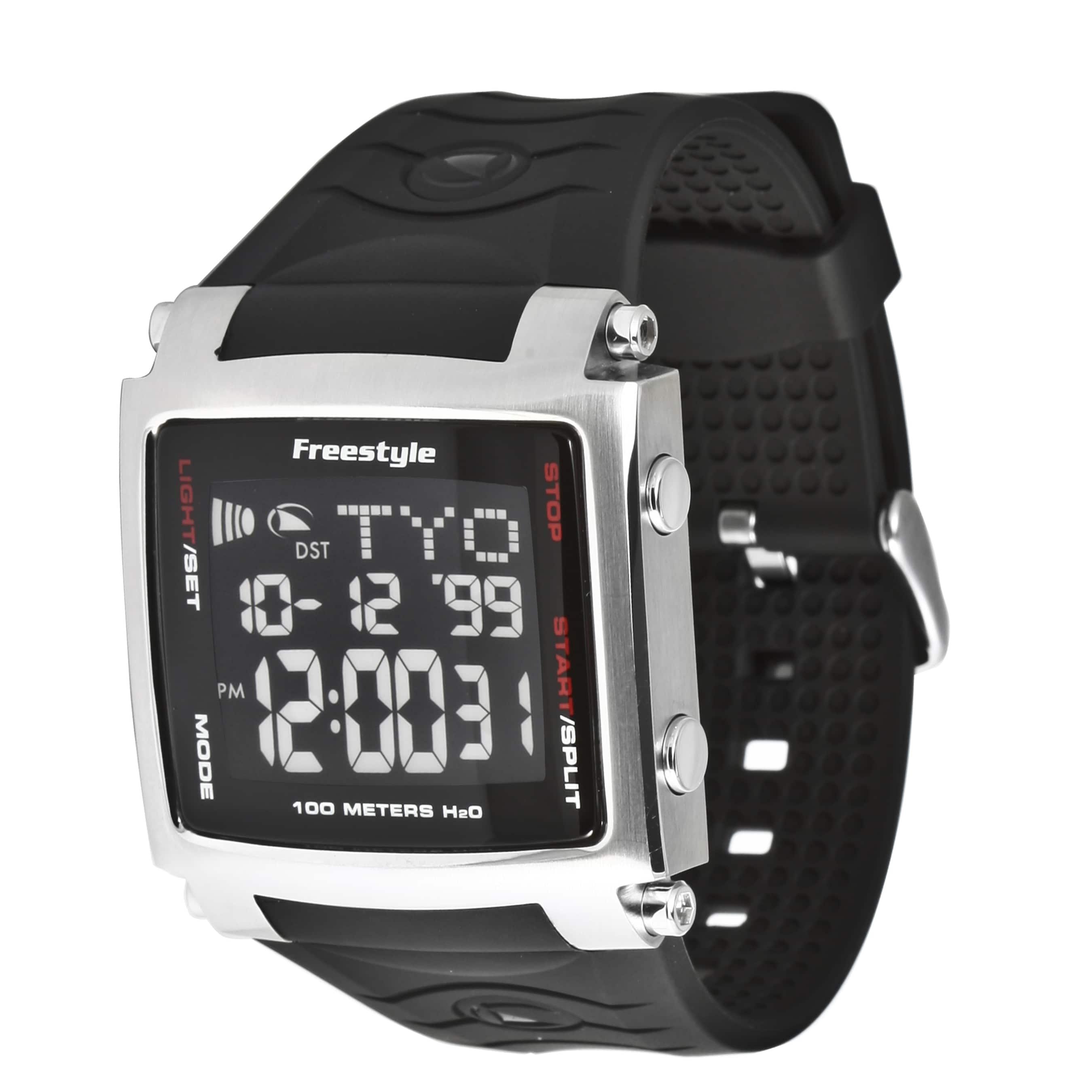 Freestyle Men's 'Lopex III' World Time Black Digital Watch