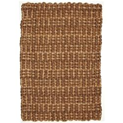 Masala Brown and Natural Tan Jute and Abaca Rug (5' x 8')