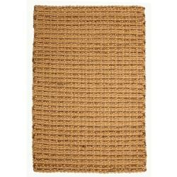 Chennai Natural Tan and Brown Jute and Abaca Rug (5' x 8')