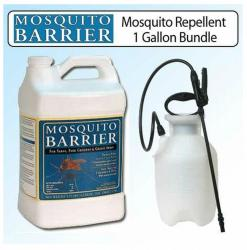 Mosquito Barrier Liquid Mosquito Repellent 1-gallon and Sprayer Kit