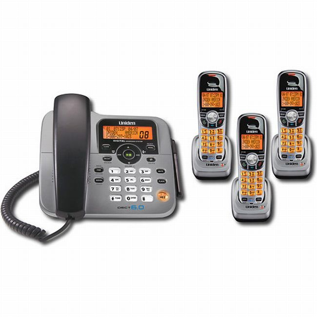 Uniden DECT 6.0 2-line Cordless Phone System with 3 Extra Handsets