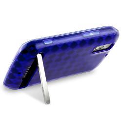 Blue Argyle TPU Rubber Skin Case for Motorola Photon 4G MB855
