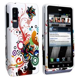 White Autumn Flower Rubber-coated Case for Motorola Droid 3 XT862