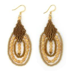 Leticia 'Moccasin' Macrame Earrings (Guatemala)