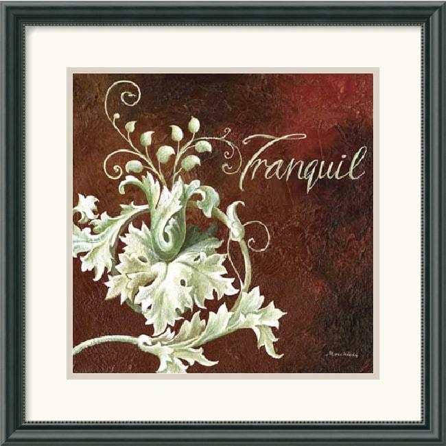 Maria Woods 'Tranquil' Framed Art Print