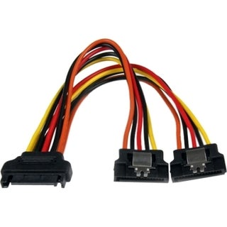 StarTech.com 6in Latching SATA Power Y Splitter Cable Adapter - M/F