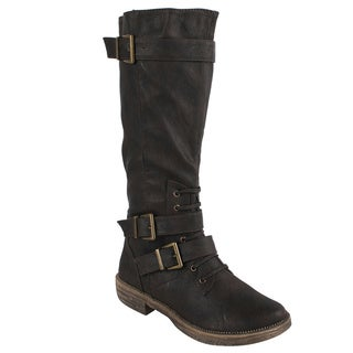 Liliana by Beston Women's 'Harvey-3' Knee-high Boots
