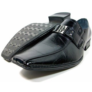 Aldo Marciano Men's Slip-on Loafers with Buckle Design