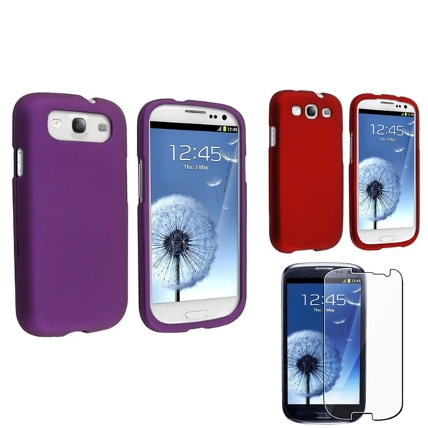 BasAcc Red Case/ Purple Case/ Protector for Samsung Galaxy S III/ S3