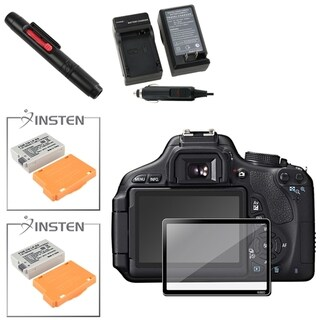 BasAcc Charger/ Battery/ Protector/ Cleaning Kit for Canon EOS 600D